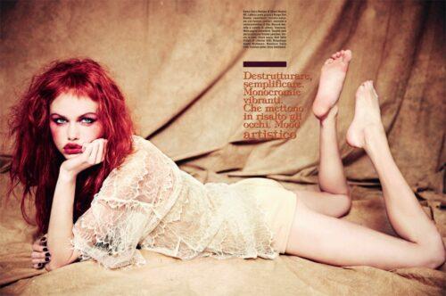 NEWS. Fashion Story: Vogue Beauty by Ellen von Unwerth — december 2014